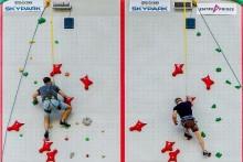 Соревнование по скалолазанию в Скайпарке Сочи.